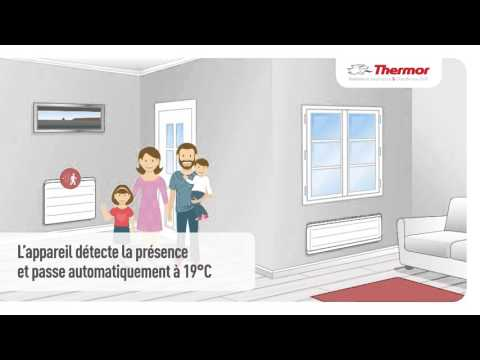les radiateurs lectriques connect s communiquent radiateurs intelligents thermor youtube. Black Bedroom Furniture Sets. Home Design Ideas