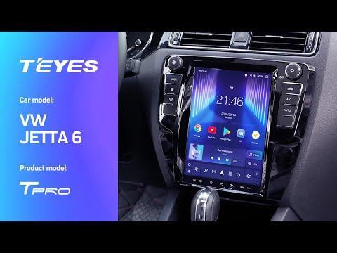 Teyes T-PRO Tesla Vertical Screen Head Unit - User Experience Video For Volkswagen Jetta 6