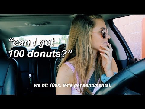 Buying 100 Donuts For 100k Subscribers (ft. GIVEAWAY-CLOSED)