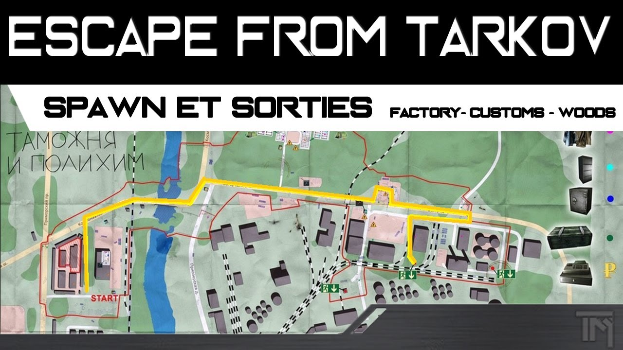 Escape From Tarkov Spawn Et Sorties Factory Customs Woods Alpha Vost En Youtube