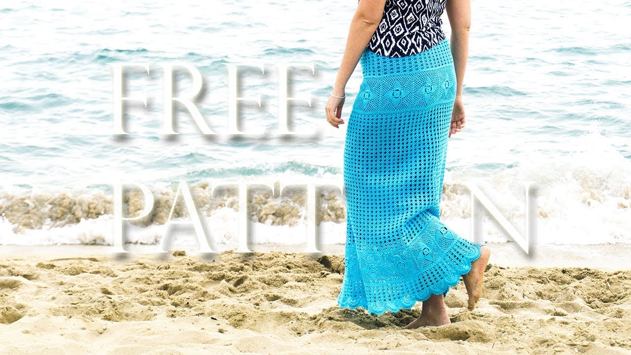 Crochet Maxi Skirt Free Pattern Youtube