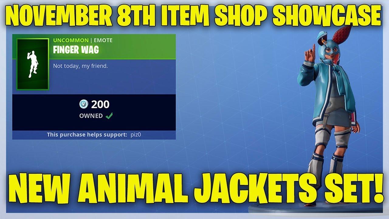 Fortnite Item Shop NEW ANIMAL JACKETS SKINS! [November 8th ...