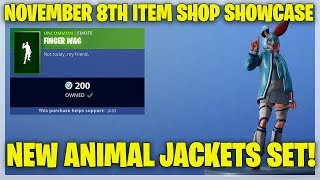 Fortnite Item Shop NEW ANIMAL JACKETS SKINS! [November 8th, 2018] (Fortnite Battle Royale)