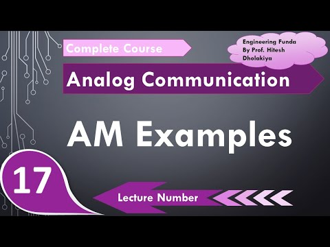 Examples On Amplitude Modulation In Analog Communication By