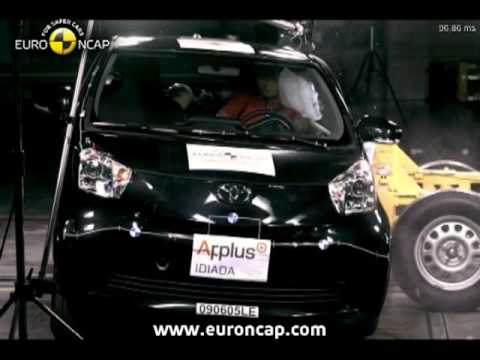 euro ncap toyota iq 2009 crash test youtube. Black Bedroom Furniture Sets. Home Design Ideas