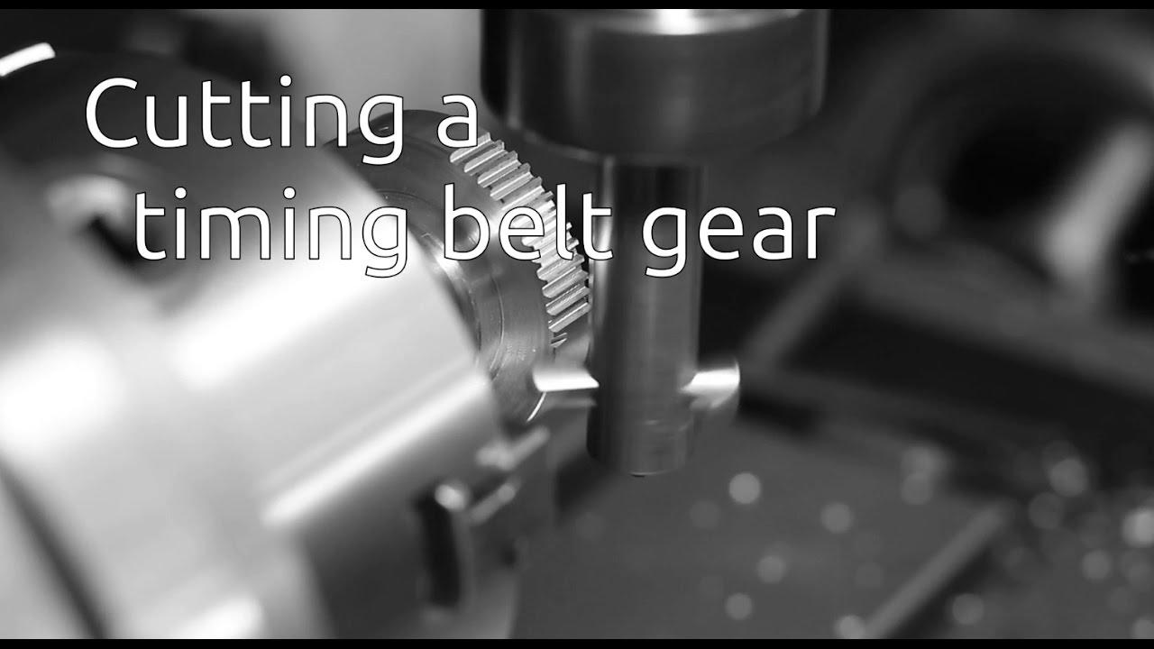 cutting a timing belt gear youtube