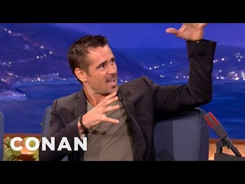 Colin Farrell Gets Crotch-Punched In The Face - CONAN on TBS
