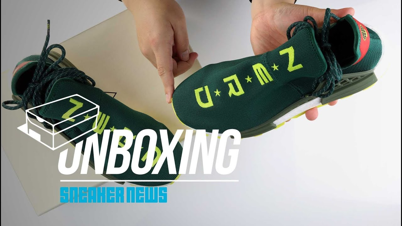 wholesale dealer 8eb72 d07d3 Unboxing NYC Exclusive adidas Pharrell NMD