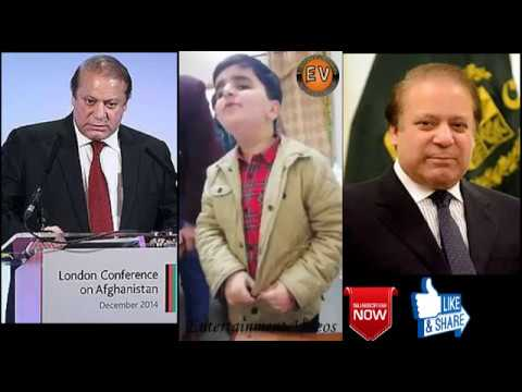 Look at the talent of this kid about nawaz sharif || panama leakes