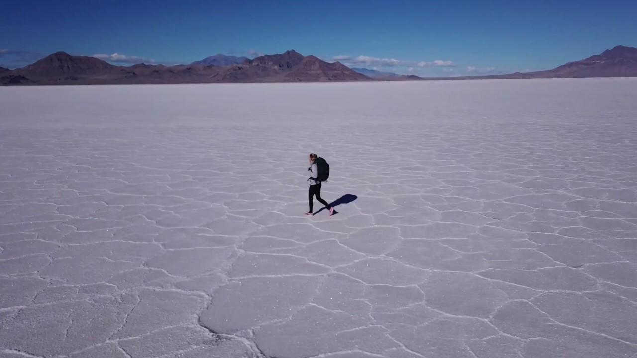 Bonneville Salt Flats - The Lone Traveler (DJI Mavic Pro | 4K)