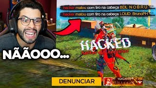 PLAYHARD E NOBRU BATEM DE FRENTE COM HACKER EM RANQUEADA!! FREE FIRE