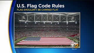 Football Players' Protests Spark Interest In Flag Code Etiquette