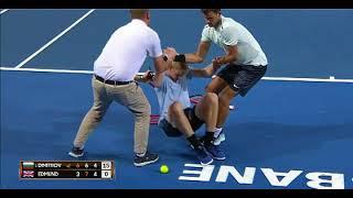 Григор Димитров теннис — поступок настоящего мужчины, помочь сопернику при травме