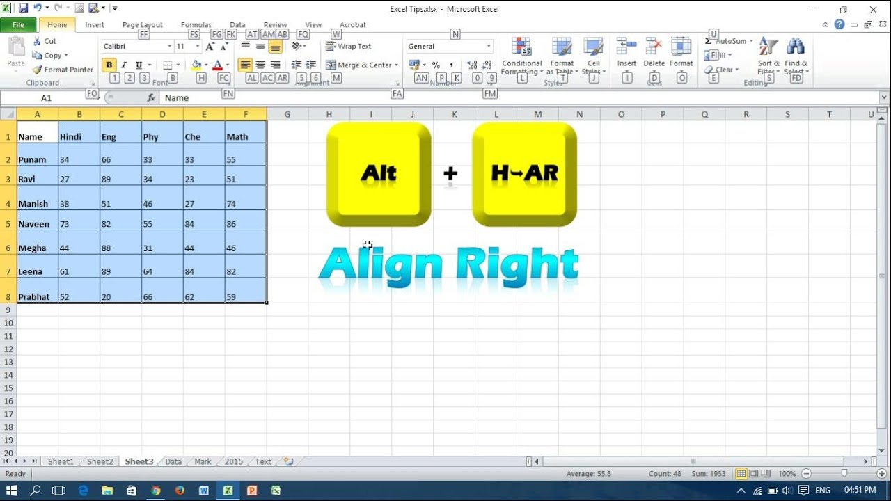 Keyboard shortcut for text alignment microsoft excel youtube ibookread Download