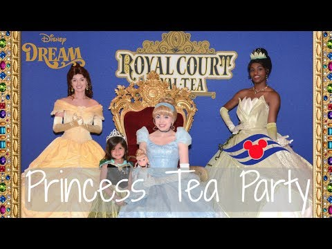 DISNEY CRUISE 2017 || ROYAL COURT ROYAL TEA || PRINCESS TEA PARTY