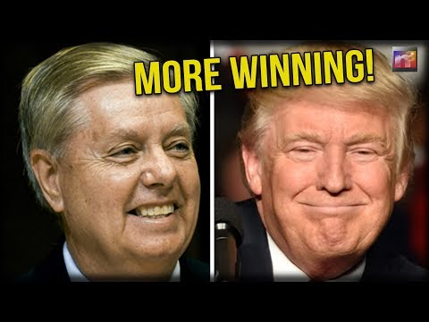 WINNING! Lindsey Graham Comes Out of Nowhere and Credits Tru