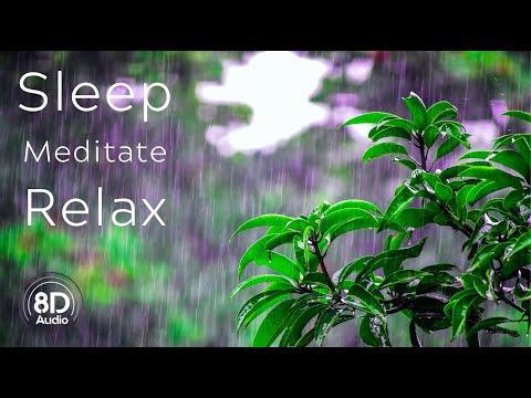 8D Rain: Relaxing Rain sounds with distant thunder • Rain sounds for sleeping • 8d Thunderstorm