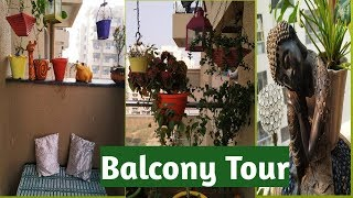 Small Balcony Tour | Decorating ideas |