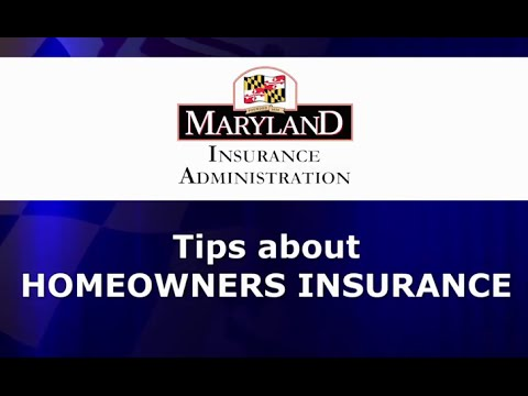 Maryland Insurance Administration - Homeowners Insurance ...