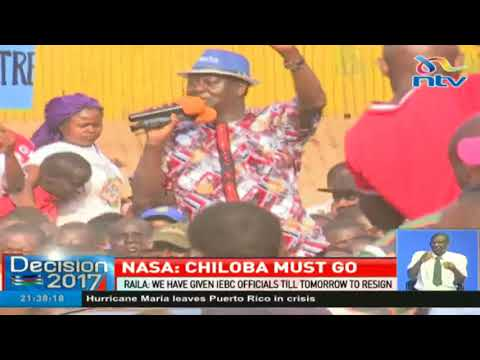 Nasa is planning street protests to push out IEBC CEO Ezra Chiloba