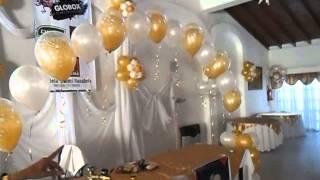 DECORACION CON GLOBOS DORADO Y BLANCO EN CASAMIENTO POR LA PROFESORA GRACIELA NOEMI SANABRIA   707 E