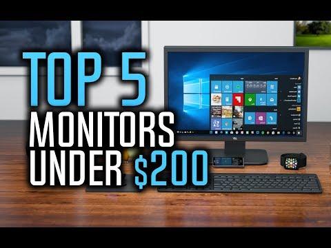 Best Monitors Under $200 in 2018!