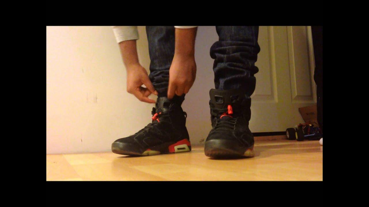 fb8515021192c5 Air Jordan 6 VI Infrared Black Infrared Pack  On FEET  - YouTube