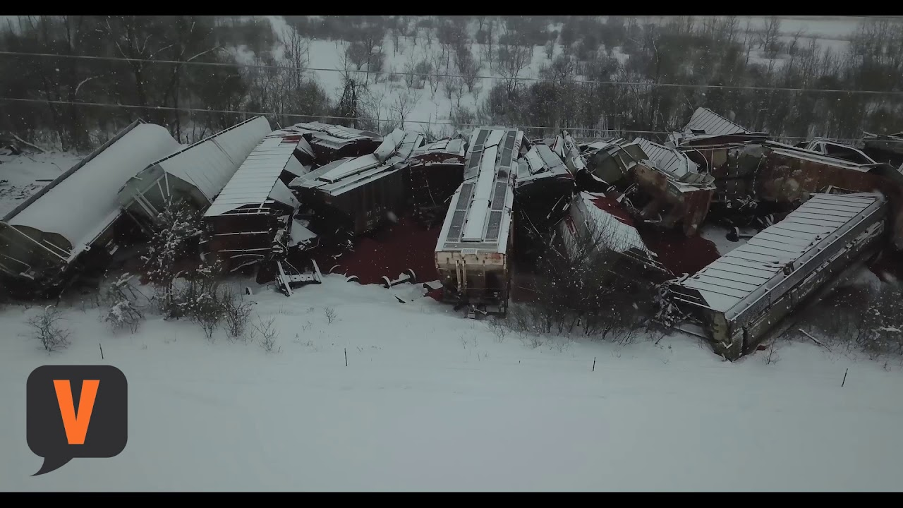 Train derailment south of Carlos   Local News