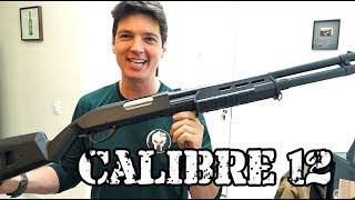 Calibre 12 - Shotgun CM355L Airsoft Brasil - Luiz Rider