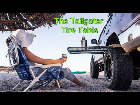 A Portable Camping Table that Works on virtually any Tire