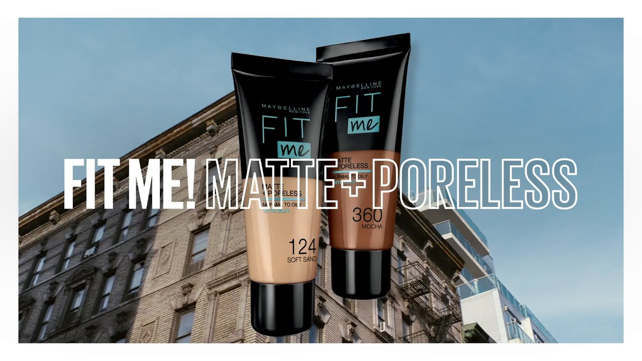 Fit Me Matte + Poreless Foundation, from Maybelline New York