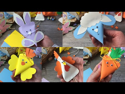 Easy DIY for kids how to make simple and Easy animal paper boxes easter idea idee per Pasqua