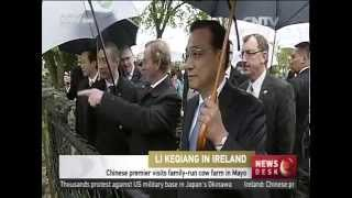 Chinese premier visits Irish cow farm in Shannon