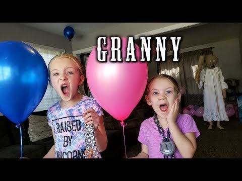 Escape the Babysitter Granny in Real Life at Granny's House During Gender Reveal Set Up!