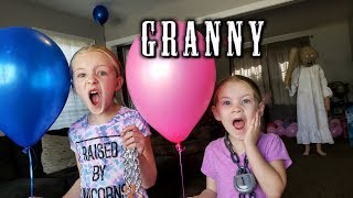 Escape the Babysitter Granny in Real Life at Granny\'s House During Gender Reveal Set Up!