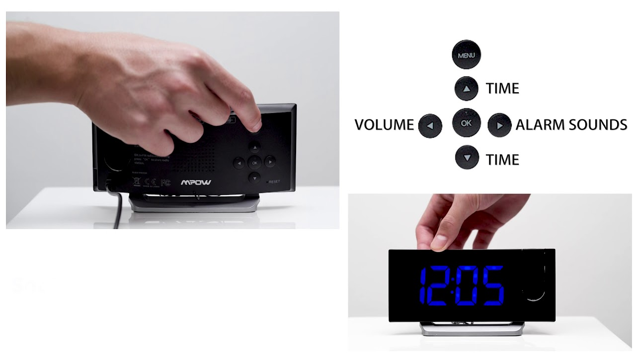 Mpow Projection Alarm Clock 5 Led