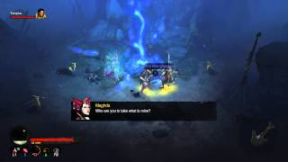 Diablo III Ultimate Evil Edition - Khazra Den: Urik The Seer, Maghda Intro & Glowing Sword Shard PS4