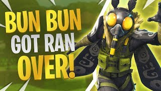 Bun Bun Got Ran Over 12 KILLS (Fortnite Mothmando Skin Gameplay) - Gameplay Fortnite