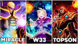 WHO is your favourite Invoker player? Miracle vs Topson vs w33