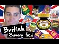 American Tries Savory British Food!!