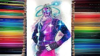 Desenhando Skin Galaxy - Fortnite ( Drawing )