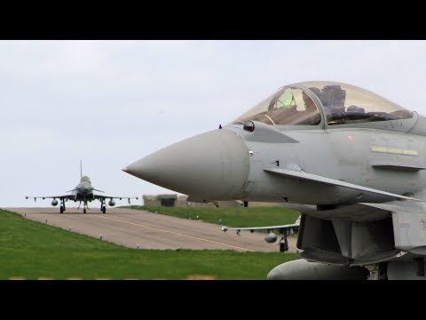 Royal Air Force Eurofighter Typhoons QRA operations RAF Lossiemouth