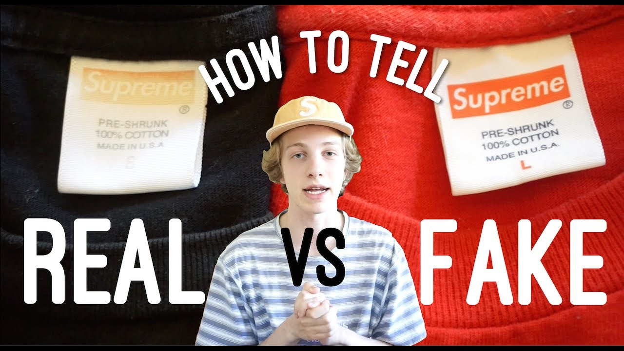 d0f3bbf20a16 How To Tell Real vs. Fake Supreme T-Shirt (With Side by Side Comparisons)