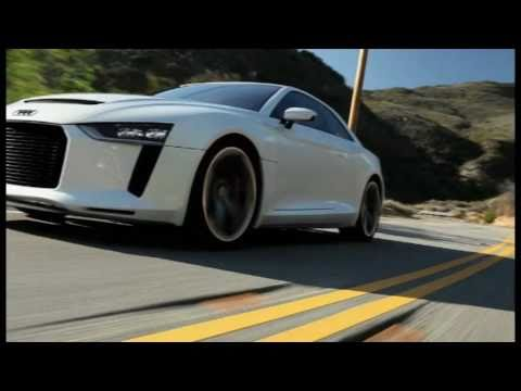 Audi Quattro Concept raw footage - static and driving scenes