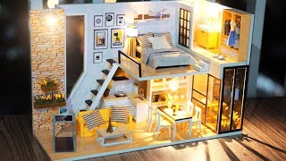 Diy Miniature Dollhouse Kit || Give You Happiness   With Full Furniture & Lights