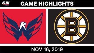 NHL Highlights   Capitals vs Bruins - Nov. 16, 2019