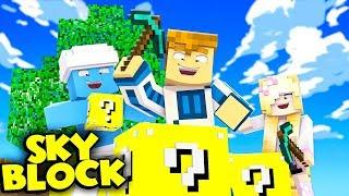 WIELKIE OTWARCIE LUCKYBLOCKÓW!   Minecraft Skyblock S3 #3