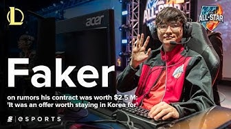 Faker on rumors his contract was worth $2.5 M: 'It was an offer worth staying in Korea for'