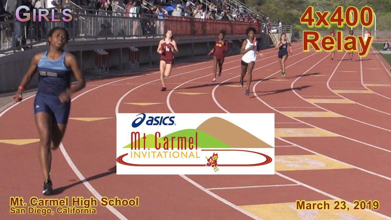 2019 TF - Mt Carmel - 4x400 (Girls, Heats 3-4 [of 4])