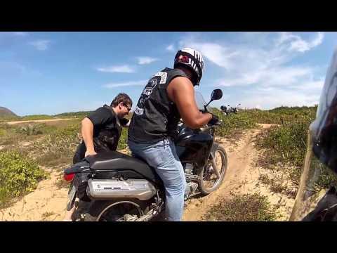 ► Ténéré e NC no Areião. Testando as motos na areia. Offroad da zoeira.